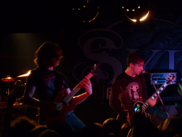 Alex and Josh from Sylosis on the Metal Hammer Razor Tour