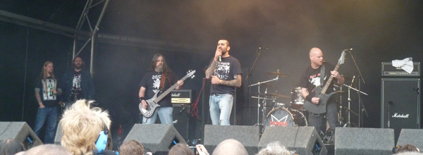 Ravens Creed on stage at High Voltage