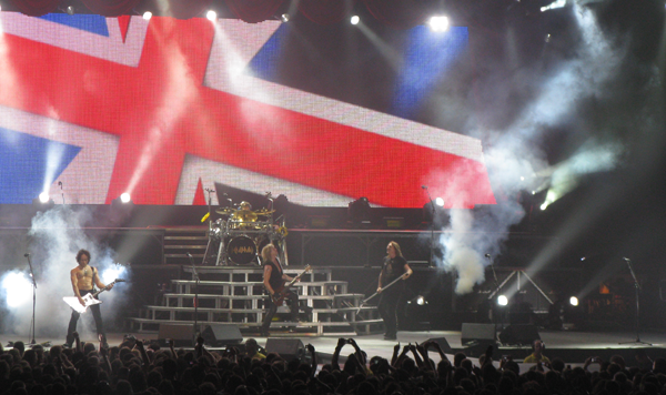 Def Leppard on stage at Wembley in 2008