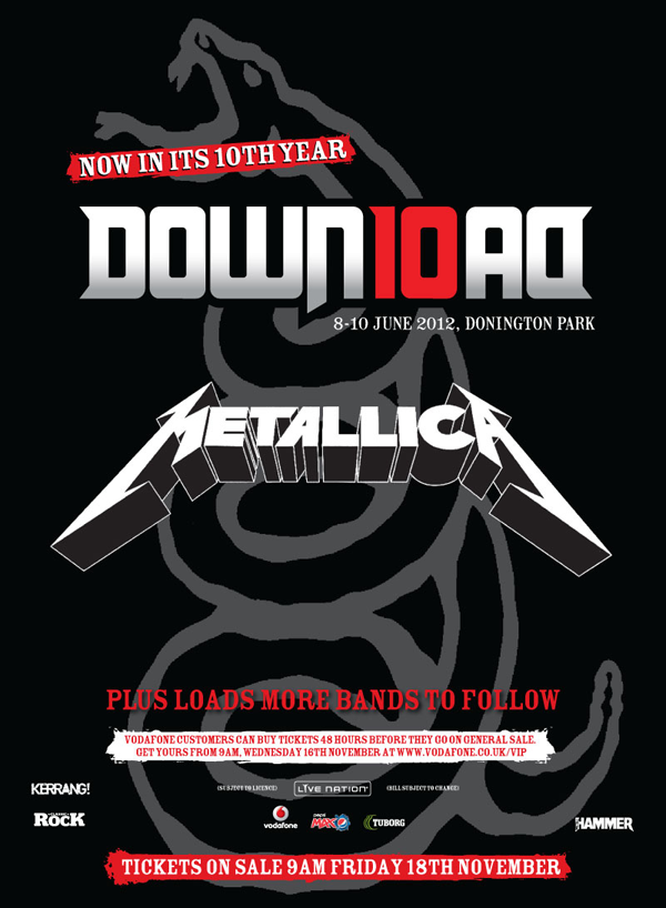 metallica will play entire black album at download festival 2012. Black Bedroom Furniture Sets. Home Design Ideas