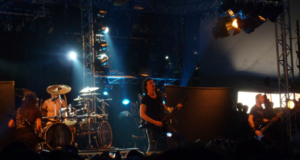 Gojira on stage at Sonisphere Knebworth 2011 in the Bohemia Tent