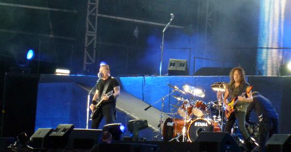 Metallica on Stage at Sonisphere Knebworth 2011