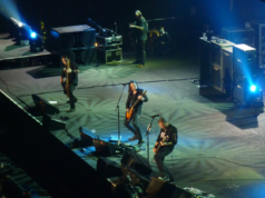 Alter Bridge on stage at Wembley Arena
