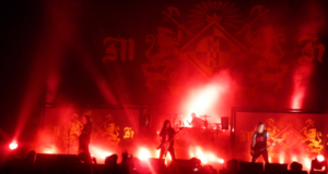 Machine Head on stage at Wembley Arena during The Eighth Plague Tour
