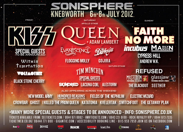 Sonisphere Knebworth 2012 Adds Eleven New Bands To Lineup Paramore Ticketmaster