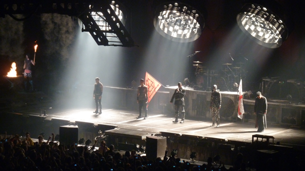 rammstein on stage in nottingham