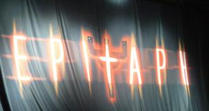 The Judas Priest Epitaph World Tour Safety Curtain, Hammersmith Apollo, London, May 2012