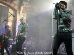 Lostprophets on stage at the Cambridge Corn Exchange May 2012