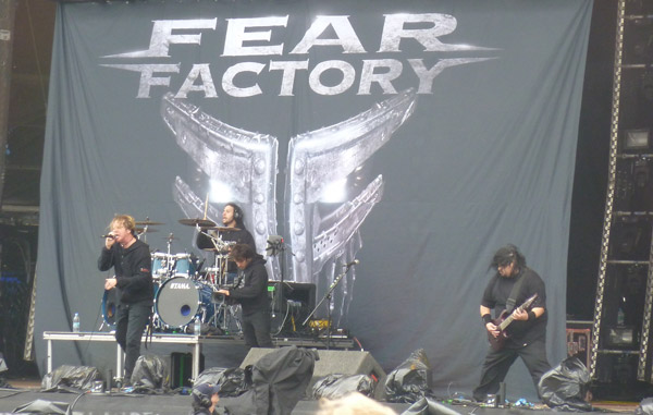 Fear Factory performing at the Download Festival 2012