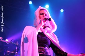 Elize Ryd singing with Kamelot on stage at London's Kentish Town Forum November 2012