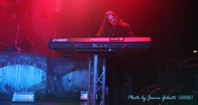 Oliver Palotai of Kamelot on stage at London's Kentish Town Forum November 2012