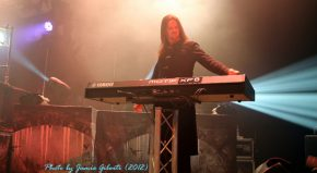 Oliver Palotai of Kamelot on stage at London's Kentish Town Forum November 2012 (2)