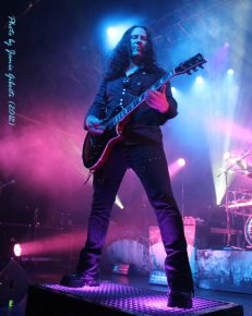 Thomas Youngblood of Kamelot on stage at London's Kentish Town Forum November 2012 (1)