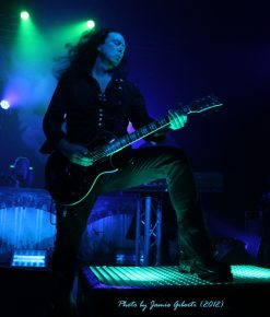 Thomas Youngblood of Kamelot on stage at London's Kentish Town Forum November 2012 (2)