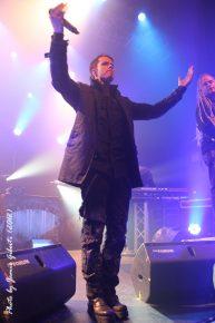Tommy Karevik of Kamelot on stage at London's Kentish Town Forum November 2012 (3)
