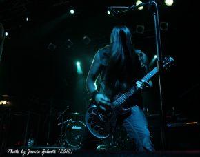 Soil guitarist Adam Zadel on stage at London's Electric Ballroom December 2012 - Photo 1