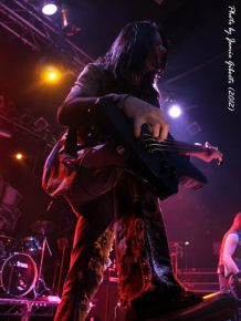 Soil bassist Tim King on stage at London's Electric Ballroom December 2012 - Photo 2