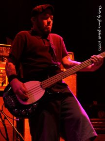 Erik Chandler from Bowling For Soup on stage at Cambridge Junction, October 2012