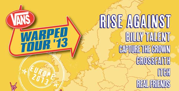 Vans Warped Tour 2013 UK Top Of The Poster