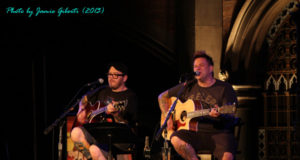 Jaret & Erik from Bowling For Soup on stage at Union Chapel, London, October 2013
