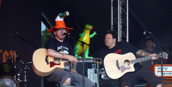 Bowling For Soup playing the Acoustic Jagermeister Stage at Download Festival 2014