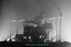 Thomas Hedlund of Cult Of Luna performing at Beyond The Redshift Festival 2014 in London