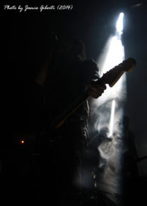 One of Cult Of Luna's guitarists performing at Beyond The Redshift Festival in London, May 2014
