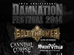 Damnation Festival 2014 Final Line Up Poster