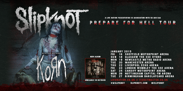 Slipknot And Korn Prepare For Hell Tour