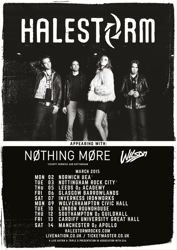 Halestorm To Tour Uk With Nothing More Amp Wilson March 2015