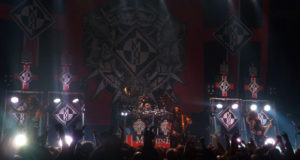 Machine Head performing on stage at the Camden Town Roundhouse December 2014