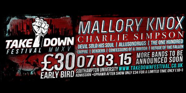 Takedown Festival 2015 Second Poster Header Image