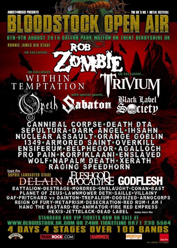 Bloodstock 2015 Festival April Poster