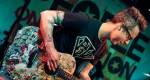 Ryan Hamilton live on stage at Dingwalls (photo one)
