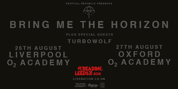 Bring Me The Horizon Reading Leeds Warm Up Shows Poster