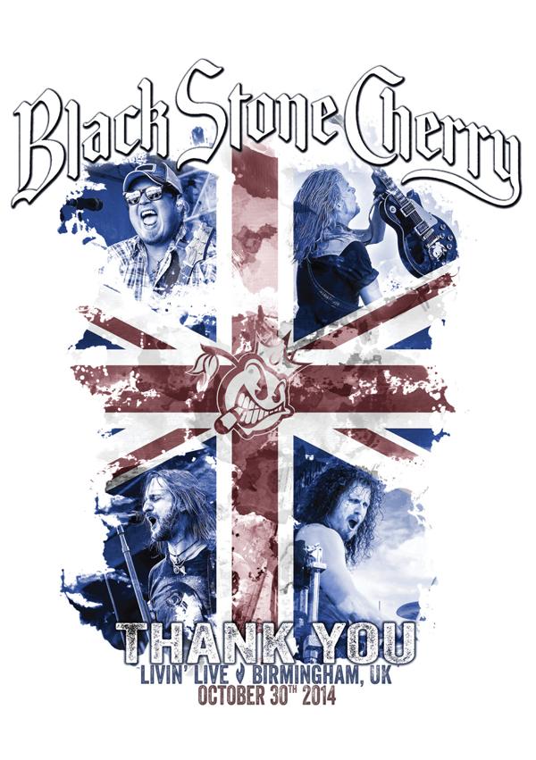 Black Stone Cherry Livin Live DVD cover