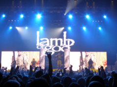 Lamb of God on stage at Wembley Arena, November 2015