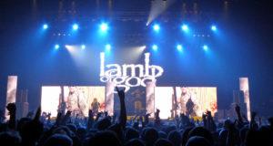 Lamb of God on stage at Wembley Arena, November 2015