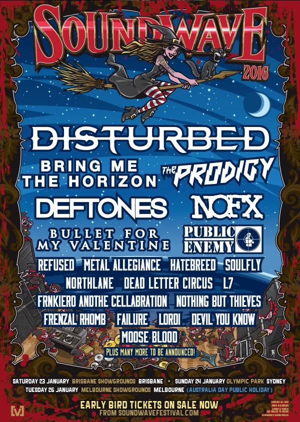 Soundwave Festival 2016 Line Up Poster