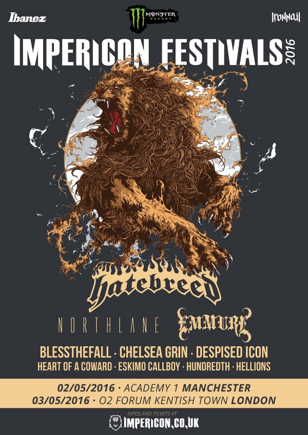 Impericon Festival UK 2016 2nd Line Up Poster
