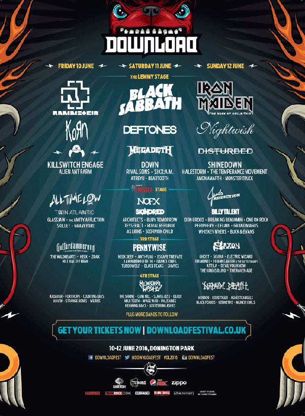 Download Festival 2016 All Time Low Poster