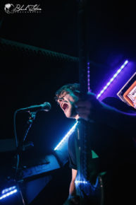 Press to Meco on stage at London Borderline 9th March 2016 for the Scuzz TV UK Throwdown Tour