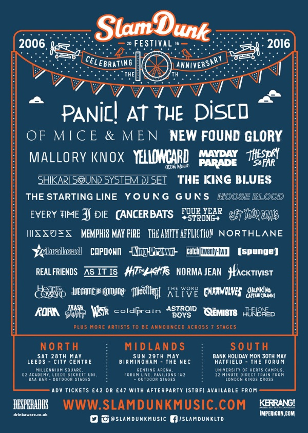 Slam Dunk Festival 2016 March Poster
