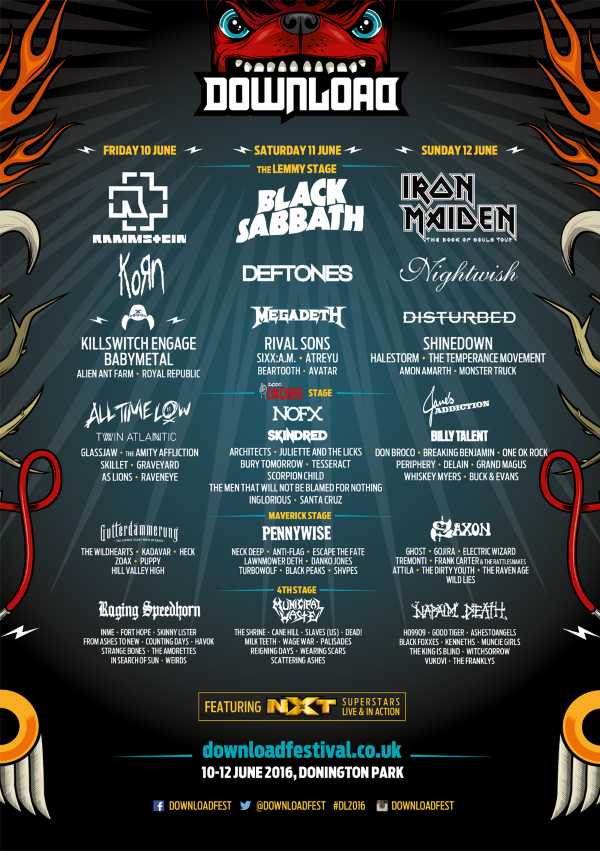 Download Festival 2016 Line Up Poster Final Maybe
