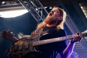 No Sin Evades His Gaze on stage at UK Tech-Metal Fest 2016 8th July 2016