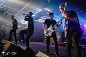 Novelists on stage at UK Tech-Metal Fest 2016 10th July 2016