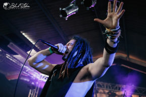 Osiah on stage at UK Tech-Metal Fest 2016 8th July 2016