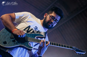 Sithu Aye on stage at UK Tech-Metal Fest 2016 9th July 2016