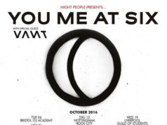 You Me At Six Night People October 2016 UK Tour Poster