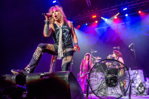 Steel Panther on stage at Manchester Arena 18th October 2016